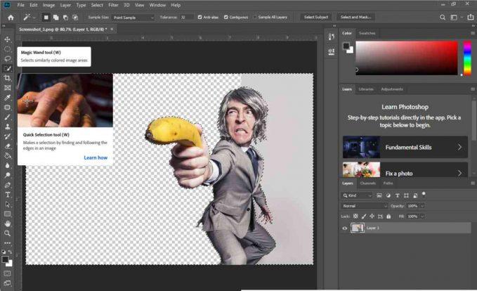 Dengan Menggunakan Magic Wand Tool : Cara Menghilangkan Background Di Photoshop