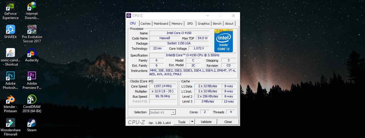 Cara Melihat Spesifikasi Laptop Melalui CPU-Z