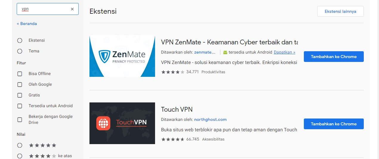 Cara Menggunakan VPN di Browser