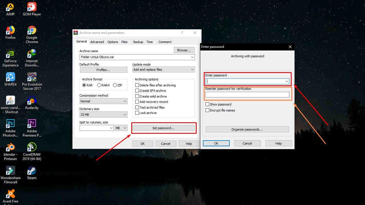 Cara Mengunci Folder dengan Winrar