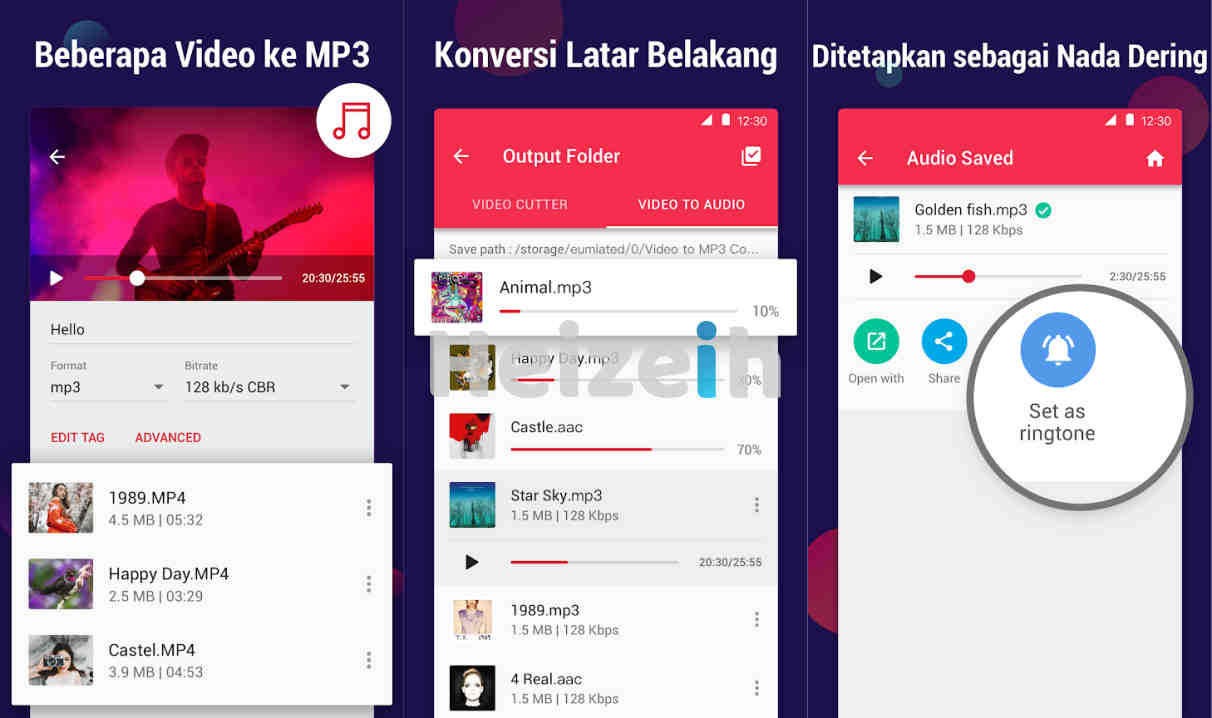 MP3 Converter - mengubah video ke mp3, pemotong