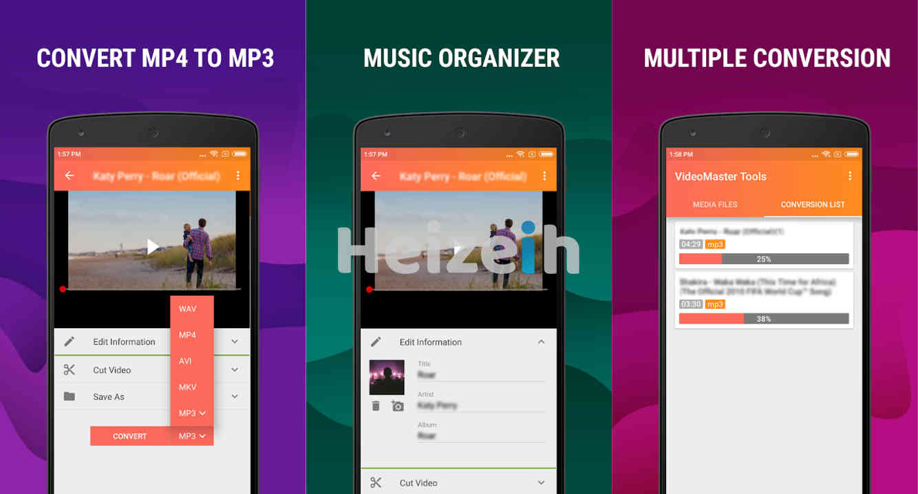 Mp4 to Mp3 - Convert Video to Audio, Cut Ringtones